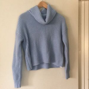 Forever 21 turtle neck pastel blue sweater